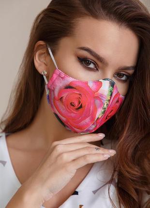 Защитная маска многоразовая. взрослая и детская