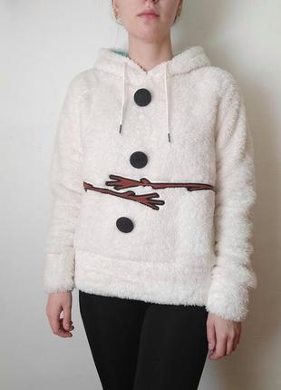 Кофта худи снеговик олаф холодное сердце мягкая плюш с капюшоном frozen