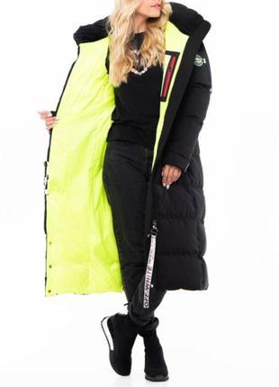 Длинное пальто в пол, качество премиум, размер с.