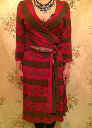 Модное платье с запахом bcbg max azria р.l-xl