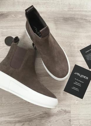 Jslides waterproof ботинки натуральная замша/кожа челси слипоны осень оригинал из сша