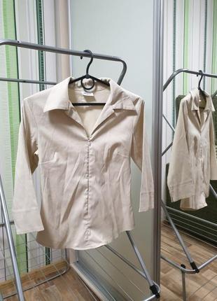 Блуза блузка строгая классическая школьная