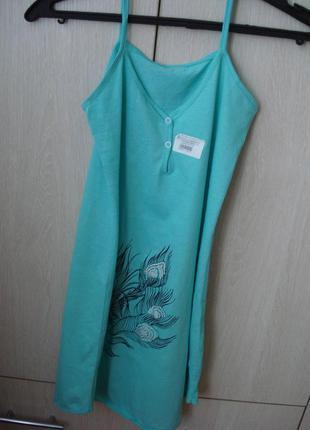 Новая женская ночная рубашка мятного цвета с биркой размер xs-s
