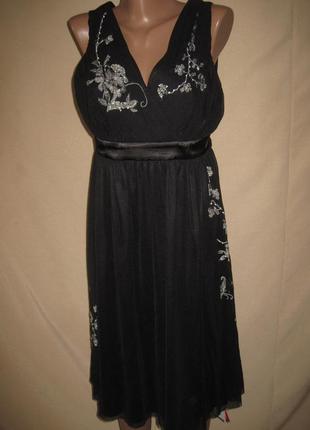 Фатиновое платье с вышивкой oasis размер 16.