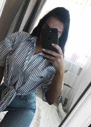 Рубашка блузка в болоску oversize