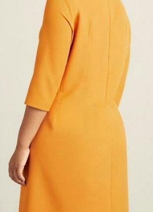 Платье цвета осени, батал, ххл, манго виолетта