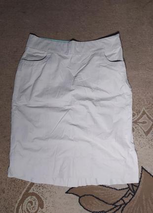 Tsm класична спідниця,  молочний, кремово-білий колір,   юбка молочная, кремово - белая