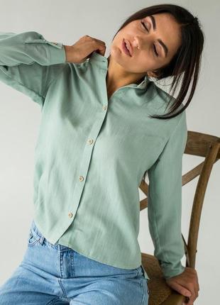 ❤️элегантная блуза с воротником стойкой❤️