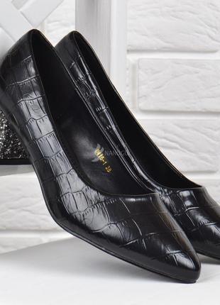 Туфли женские лодочки на широком каблуке viva глиттер