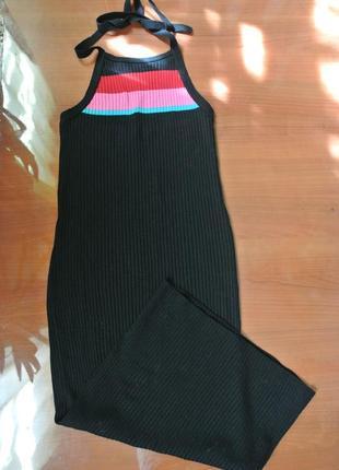 Распродажа! стильный длинный сарафан машинной вязки