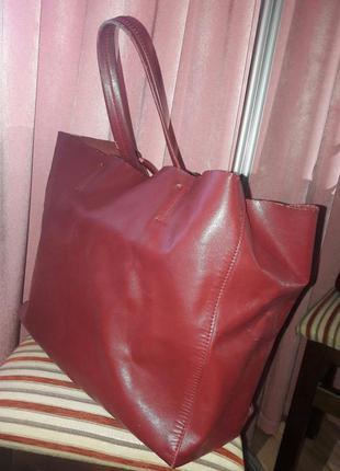 Бордовая сумка (марсала) .под celine