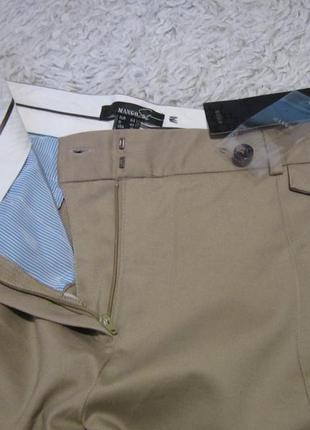 Трендовые брюки слим, укороченные брючки хлопок. распродажа красивых вещей)