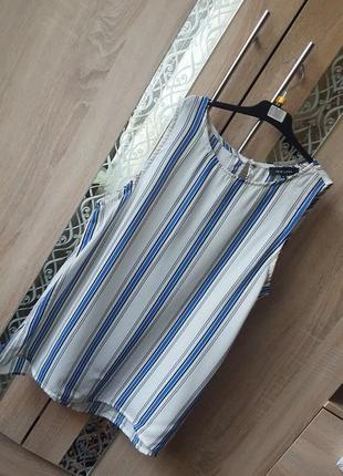 Актуальная шифоновая блуза в полоску