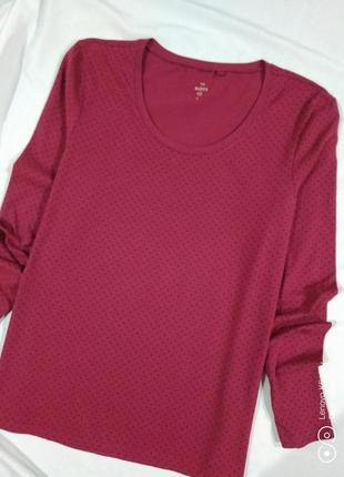 Лонгслив, кофта, рубашка,-цвета марсала,-l-xl- -basics-c&a- идеал