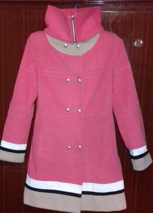Кашемировое пальто двубортное