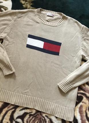 Улётный вязаный свитер от tommy hilfiger big logo