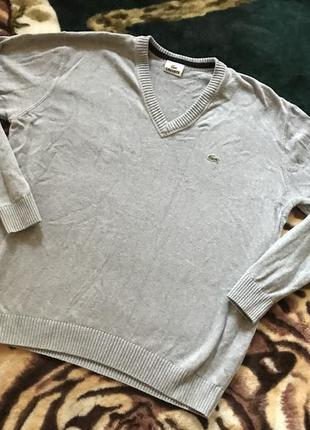 Клёвый свитер с v-образным горлом от lacoste