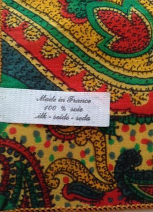 Шелк 100% носовой платок