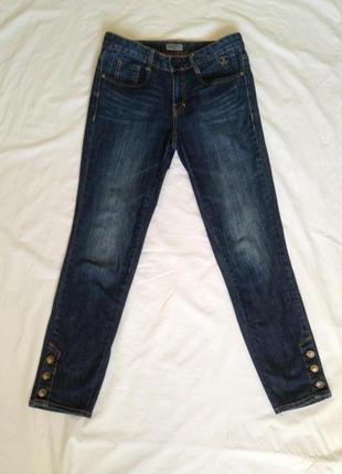 Зауженные укороченные  джинсы стрейч tom tailor