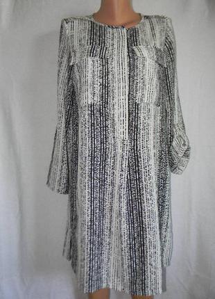 Стильное платье рубашка marks & spencer