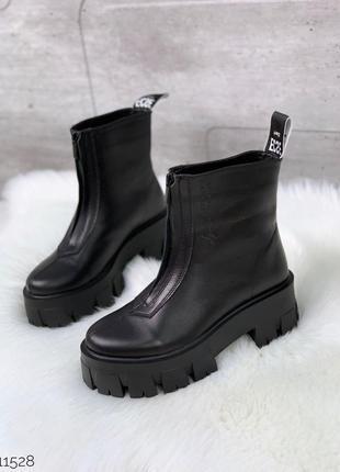 ❤ женские черные осенние демисезонные ботинки ботильоны ❤