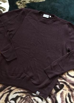 Очень крутой шерстяной свитер от carhartt playoff sweater damson heather
