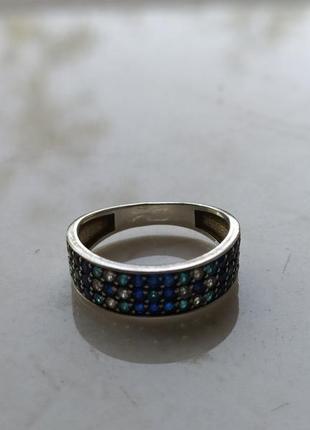 """Кольцо коллекция """" вышиванка"""" серебряное 17,5 размер"""