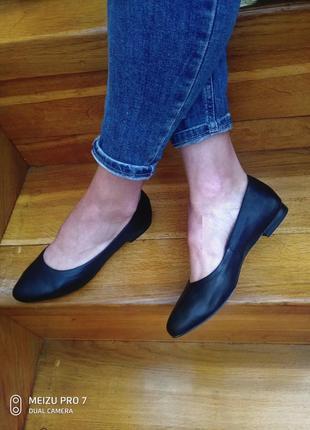 Кожание балетки туфли от бренда caprice, 36p