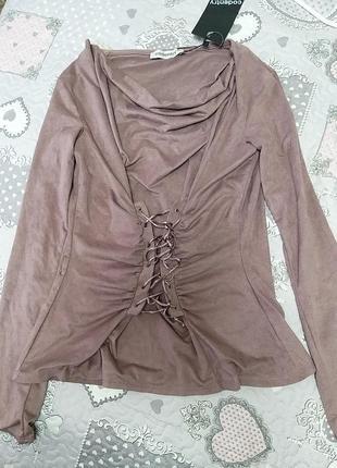 Кофта блуза цвета пыльной розы🌹