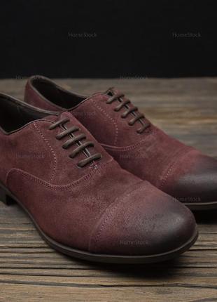 Мужские замшевые туфли geox respira suede оригинал р-40