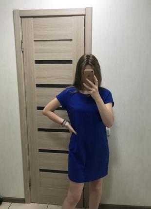 Платье синее от house