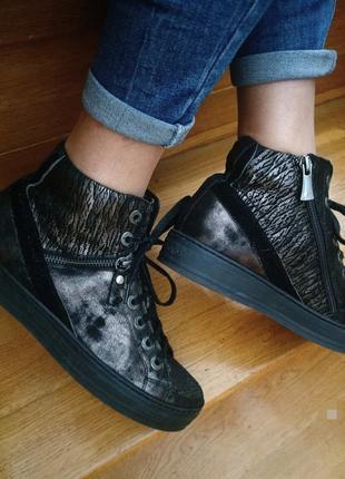 Крутие кожание ботинки кеди от модного американского бренда footnotes, 37.5см