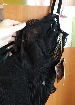 Эротическое белье большой размер, сексуальное кружевное боди большого размера на косточках5 фото