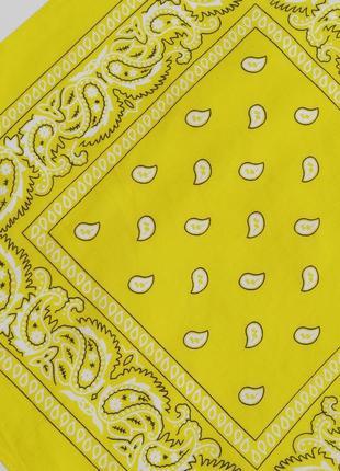 Жовта жёлтая бандана платок шарф рок панк