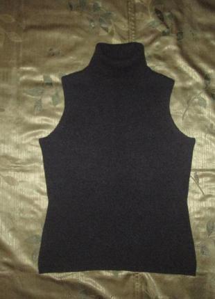 Кашемировый гольф eric bompard 100% оригинал свитер безрукавка жилет кашемир + шелк
