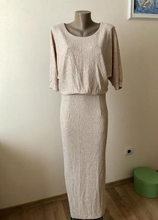 Длинное элегантное платье maria magdalena