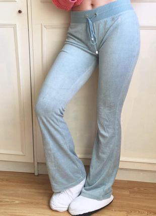 Бирюзовые лазурные велюровые плюшевые домашние спортивные штаны victoria's secret