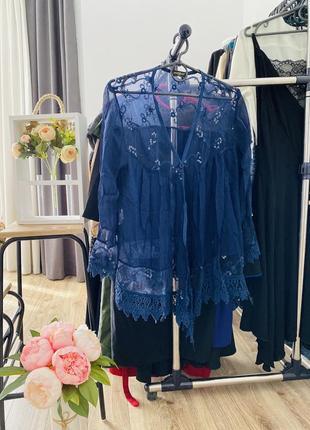 Лёгкая воздушная шёлковая блузка, накидка шёлк, шелковая накидка montan paris