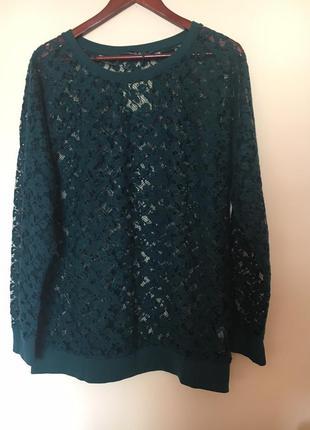 Модная ажурная блуза