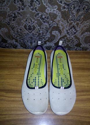 Кожаные мокасины туфли балетки ecco