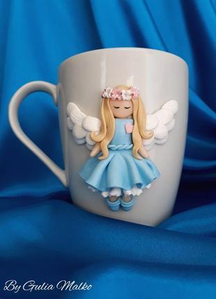 Чашка с ангелочком