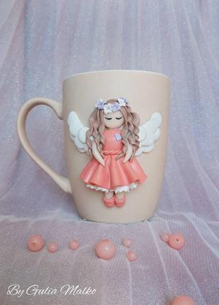 Чашка с ангелом