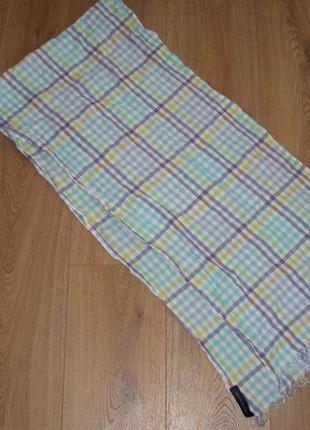 Хлопковый шарф в клетку tommy hilfiger