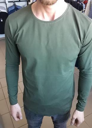 Лонгслив футболка с длинным рукавом хаки