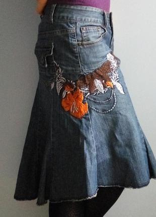 Спідниця джинсова з вишивкою / юбка джинсовая с вышывкой lifeline