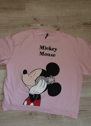 Футболка женская розовая mickey mouse