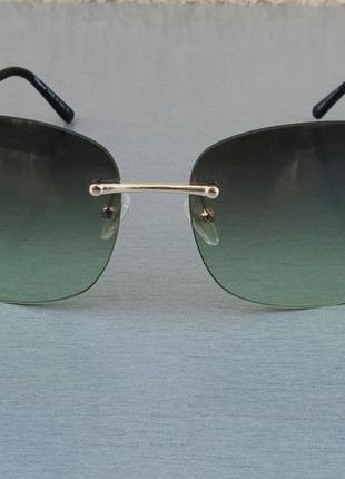 Chopard очки женские солнцезащитные безоправные зеленые с градиентом