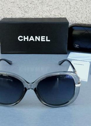 Chanel очки женские солнцезащитные серые поляризированые