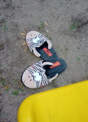 Тапки-зебра