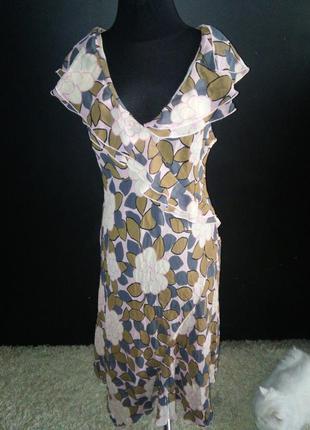 Легкое шелковое платье trend